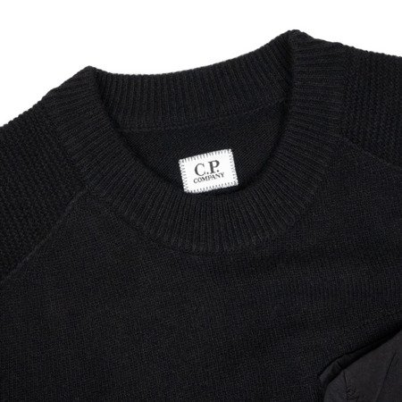 CP Company Lambswool Mixed Chrome Pocket Crewneck