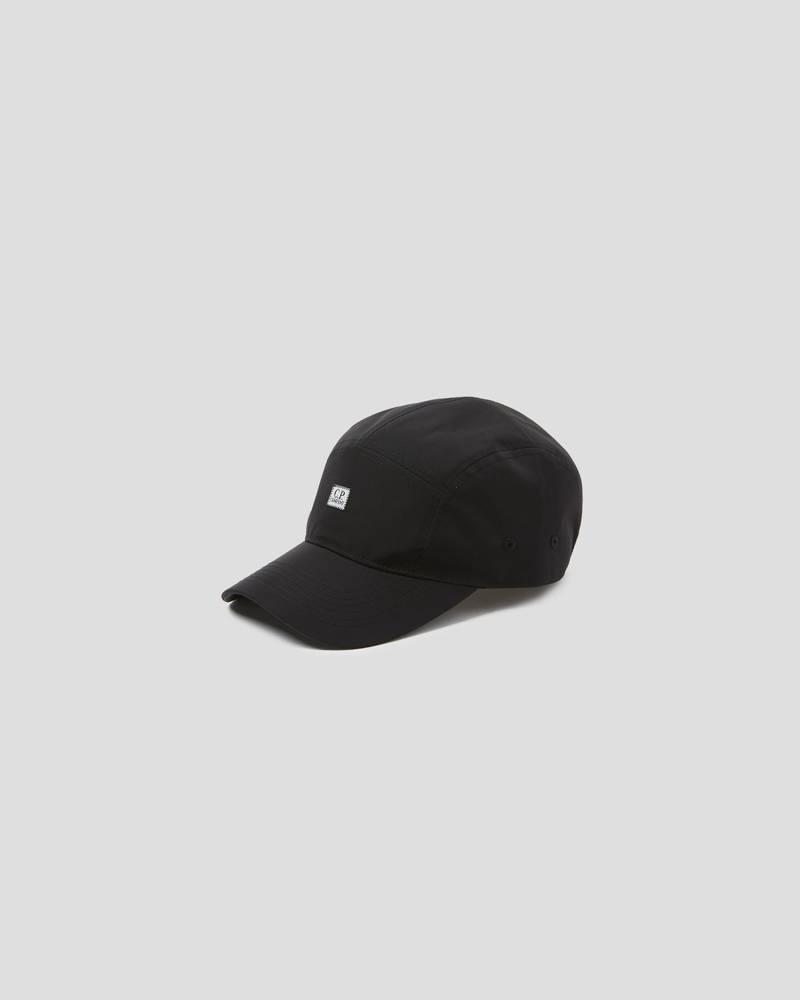CZAPKA C.P. COMPANY CHROME GARMENT DYED LOGO CAP BLACK
