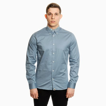 Pretty Green Mens Slim Fit paisley Print Collar Shirt