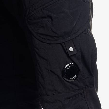 CP COMPANY CARGO PANTS DIAGONAL FLEECE BLACK