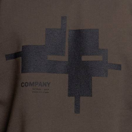 CP COMPANY CREWNECK COTTON FLEECE DARK GREEN