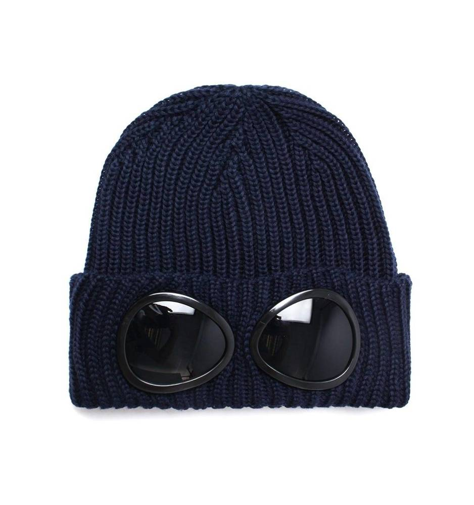 CP COMPANY KNIT CAP EXTRAFINE MERINO WOOL DARK NAVY