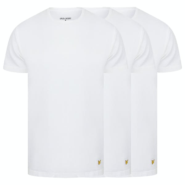 KOSZULKA LYLE & SCOTT 3 PACK MAXWELL PREMIUM COTTON T-SHIRT BRIGHT WHITE