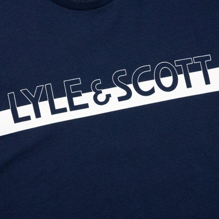 LYLE&SCOTT LOGO T-SHIRT NAVY