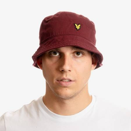 LYLE&SCOTT TWILL BUCKET HAT BURGUNDY