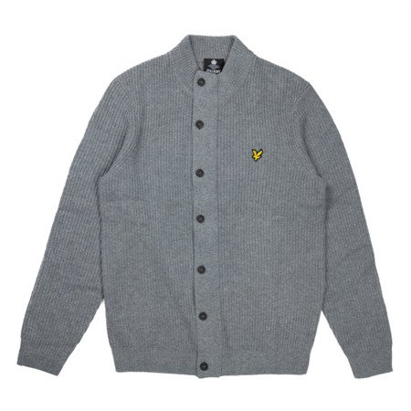 Lyle & Scott Knitted Zip Through Funnel Neck