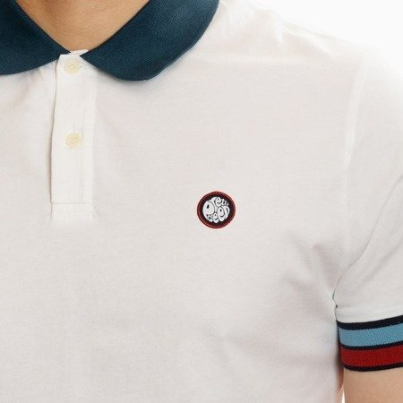 Pretty Green Mens Contrast Colour Cuff Polo