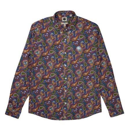 Pretty Green Mens Slim Fit Paisley Print Shirt