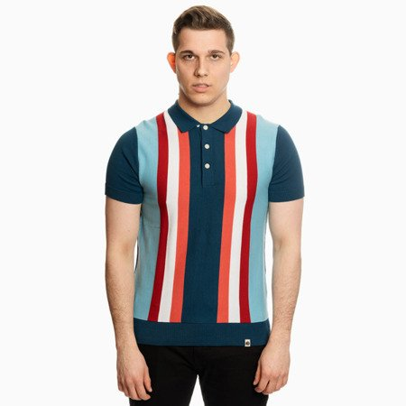 Pretty Green Mens Stripe Knitted Polo