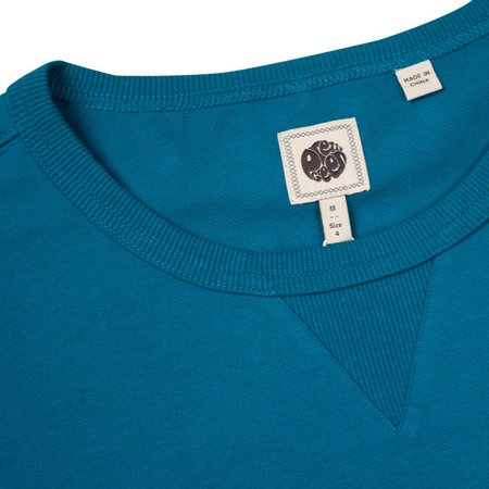 Pretty Green Mens Woven Pocket Crew Neck Sweat